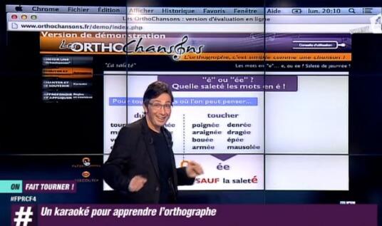 Orthographe à la télévision avec les Orthochansons