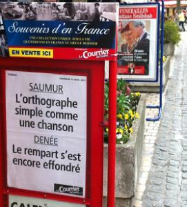 dans la presse, bel effort : affiches kiosque dans toute la région
