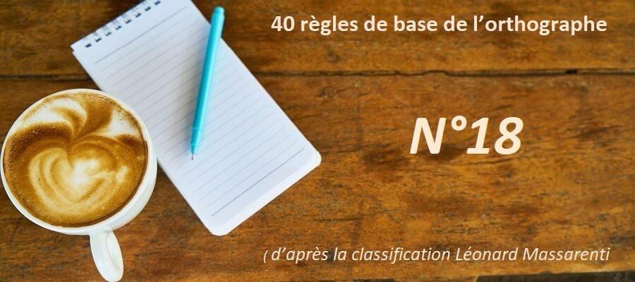 Le pluriel des noms - Règles d'orthographe de base N°18
