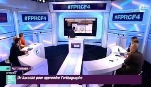 dans la presse télévisuelle, séquence Orthochansons sur A2 TéléMatin